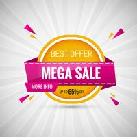 Mega Sale Design Banner färgstark vektor illustration