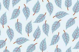 Blatt nahtlose Muster vektor