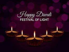 Happy Diwali das Festival of Light Grußkarte greeting vektor