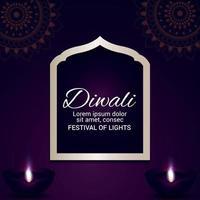 Diwali das Fest des Lichts Feier Grußkarte vektor