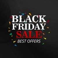 Schwarzer Freitag-Verkaufsplakatdesign-Vektorillustration