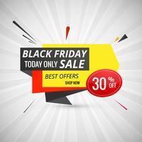 Schwarzer Freitag-Verkaufsfahnenplan-Designvektor