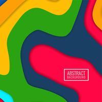 Abstrakter bunter papercut moderner Hintergrund