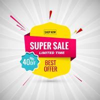 Super Sale Banner Design. Vektor-illustration vektor