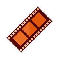 Tonbandaufzeichnungsfilm flach detaillierter Stil vektor