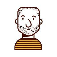 junger Mann mit rasiertem Kopf Avatar-Charakter-Symbol vektor