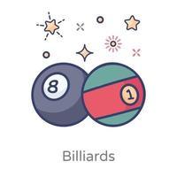 Billard-Sport-Design vektor