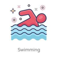 Schwimmen modernes Design vektor