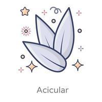 nadelförmige nadelförmige Kristalle vektor