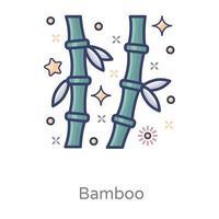 Bambus exotisches üppiges grünes Design vektor