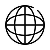 Symbol für den Linienstil des Kugelbrowsers vektor