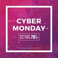 Cyber Monday-Social-Media-Beitrag vektor