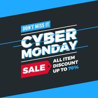 Cyber Monday Social Media-Vektor