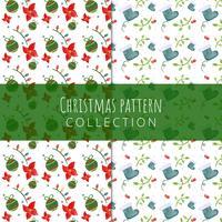 Nette Weihnachtsmuster-Sammlung. vektor