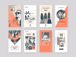 Mode-Instagram-Geschichtenschablonen-Vektor-Pack