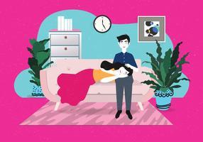 Kühle Paare auf dem Couch-Vektor vektor