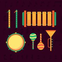 musikinstrument knolling vektor