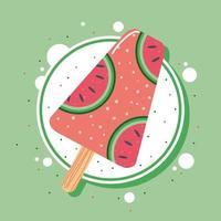 Wassermeloneneis vektor