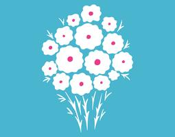 Gänseblümchen-Blumenstrauß vektor