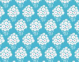 Seamless tusensköna blommönster vektor