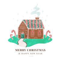 Netter Weihnachtsingwer-Haus-Hintergrund