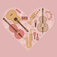 Vector musikinstrument