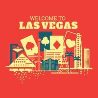 Abbildung des Willkommens nach Las Vegas
