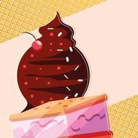 Schokoladen- und Kekseis vektor