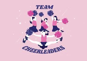 team cheerleaders vektor