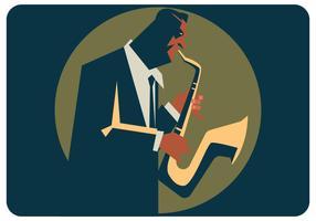 Saxophonist-Vektor vektor