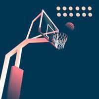 Basketbollsmål inomhus vektor