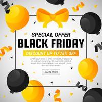 svart fredag försäljning bakgrund vektor