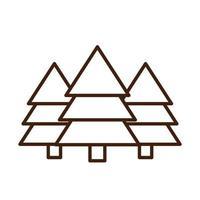 Kiefernwald botanische Natur linearer Symbolstil vektor