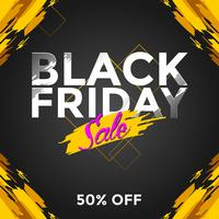 Black Friday-Verkaufs-Social Media-Beitrags-Vektor