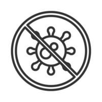 Coronavirus Covid19-Diagnostikforschung stoppt Viruserkrankung Atemwegslinien-Icon-Design vektor