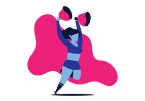 Cheerleader Mädchen vektor