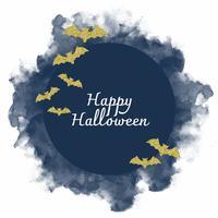 Vektor vattenfärg halloween dekoration