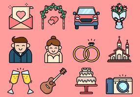 Verlobungsvorschlag-Symbol vektor