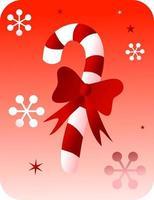 Retro-Weihnachtszuckerstange vektor