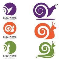 Schnecke Vektor Icon Design Illustration Vorlage