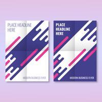 Flyer Cover Geschäftsbroschüre Design moderne Layoutvorlage vektor