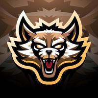 Waschbärkopf-Esport-Maskottchen-Logo-Design vektor