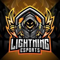 Blitz-Esport-Maskottchen-Logo-Design vektor