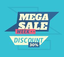 Mega-Verkaufswoche vektor