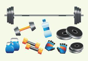 Realistische Fitnessgeräte vektor
