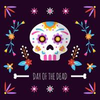 Dag av den döda bakgrunden vektor