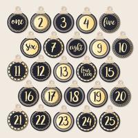 vektor utskrivbar advent kalender