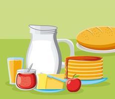 Frühstück frische Speisekarte vektor