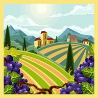 vingårdscentral vektor