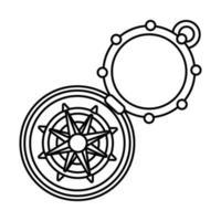 Symbol für den Stil der Kompass-Führungslinie vektor